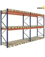 Pallställ 2 sektioner. H3000 mm L5660 mm / 1000 kg per pall