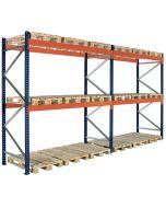 Pallställ 2 sektioner. H3000 mm L5660 mm / 3000 kg