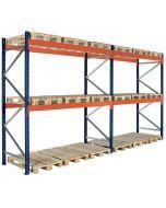 Pallställ 2 sektioner H2500 mm L5660 mm / 1500 kg